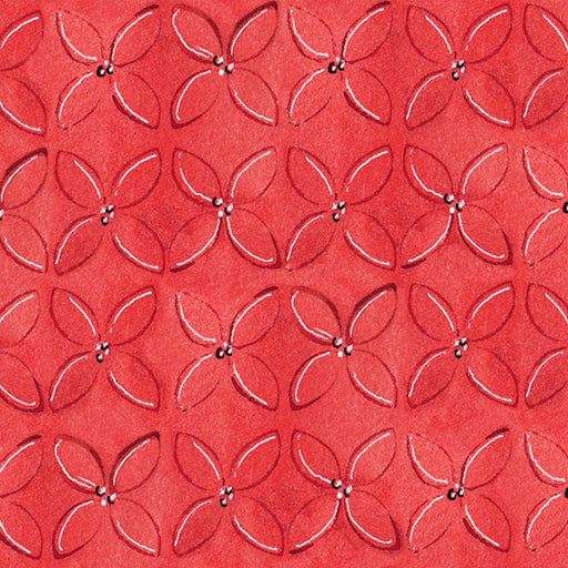 Wild Things - Geometric Flower 23622-R Red