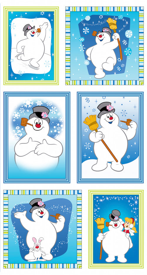 Silly Snowman Patch Panel 23956-B Blue