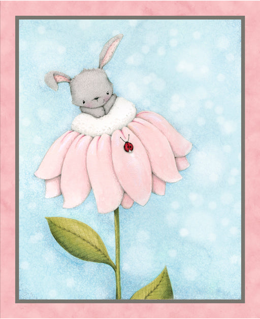 Bunny Love Panel 24728-B Blue