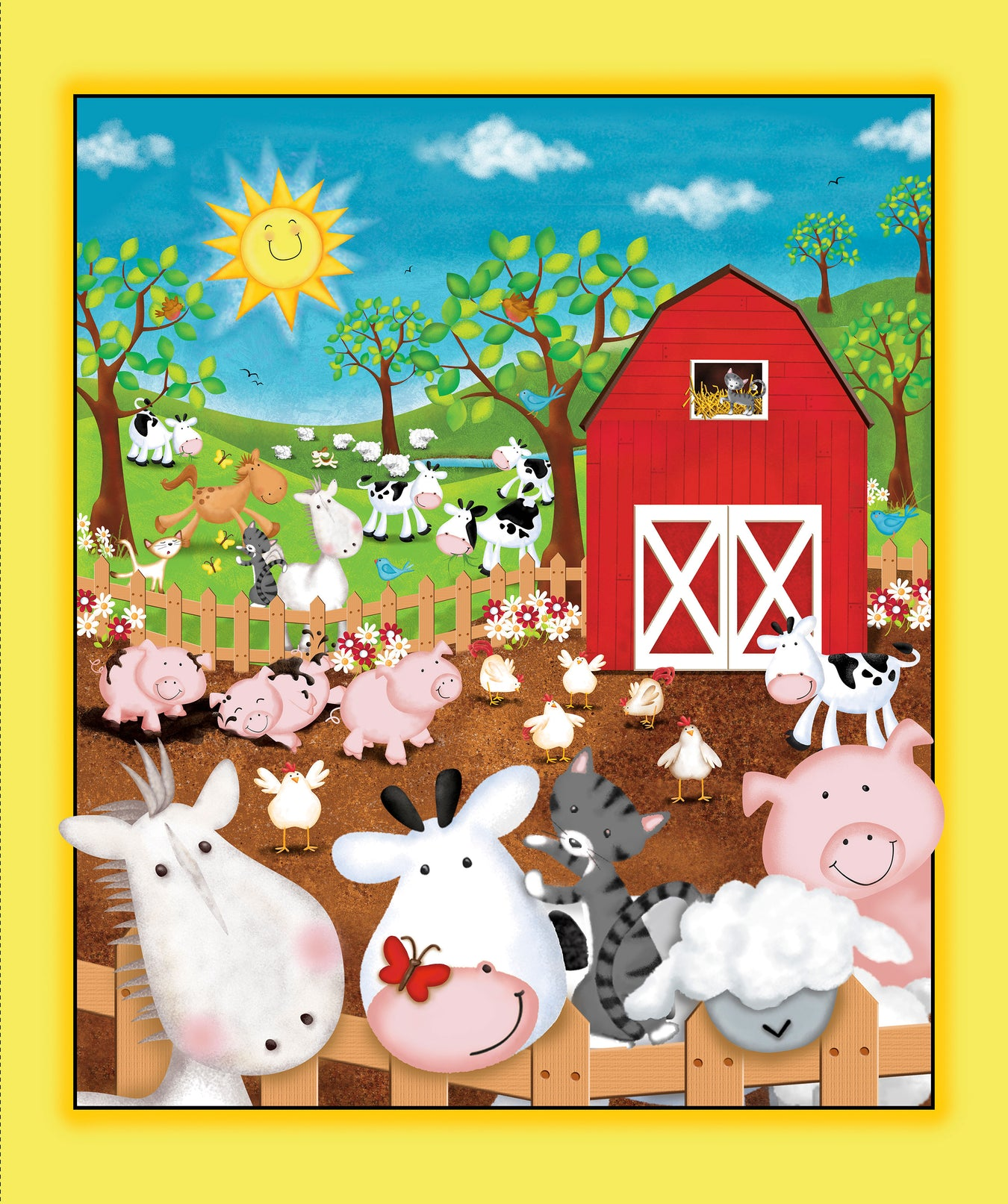 Animal Farm by Quilting Treasures
