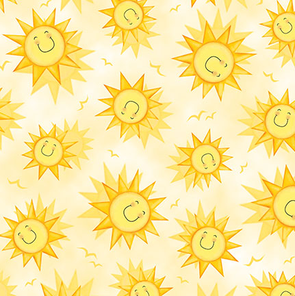 Animal Farm Smiley Sun 24949-S Pale Yellow