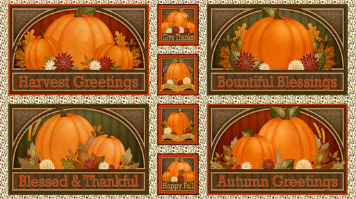 Harvest Greetings - Pictures Patches 25820-X Multi