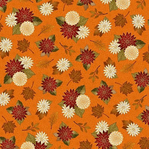 Harvest Greetings - Chrysanthemums 25821-O Pumpkin