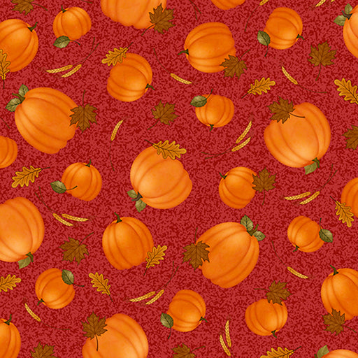 Harvest Greetings - Tossed Pumpkins 25822-R Red