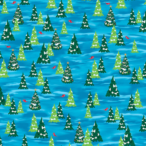 Fun With Rudolph - Pine Trees 25882-B Dark Blue