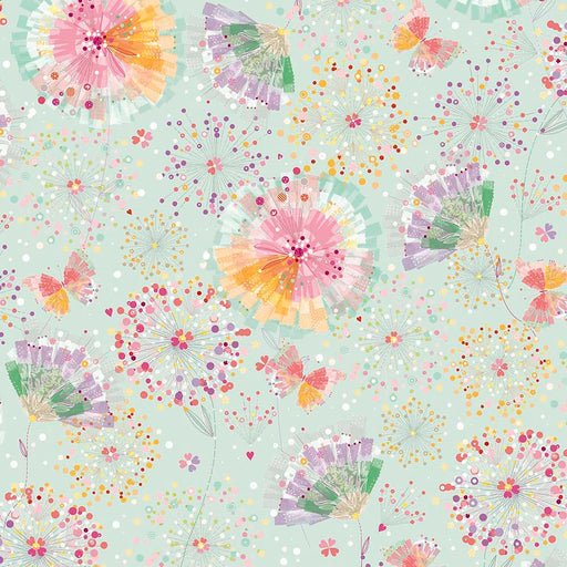 Confetti Blossoms - Confetti Blossoms & Fan Florals 26233-H Light Seafoam