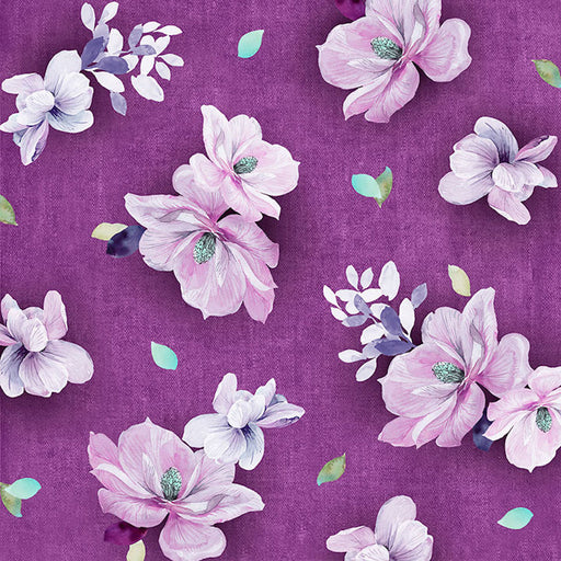 Jacqueline - Tossed Flowers 26558-PV Plum