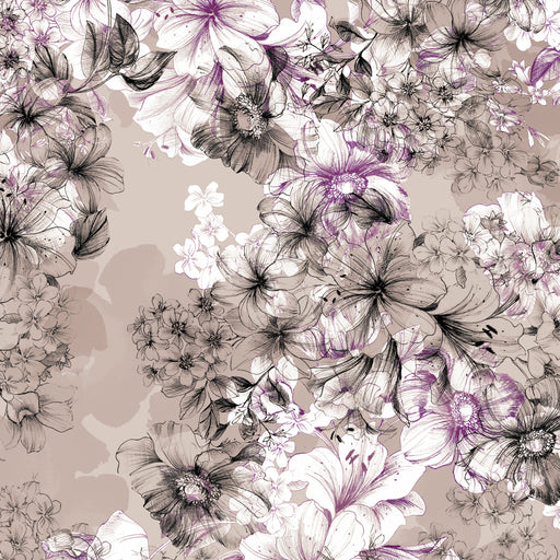 Juliette - Large Floral Toile 26813-K Gray