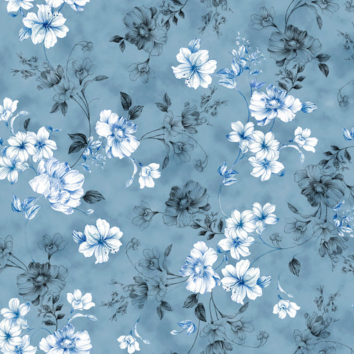 Juliette - Spaced Floral Vine 26814-B Dark Chambray