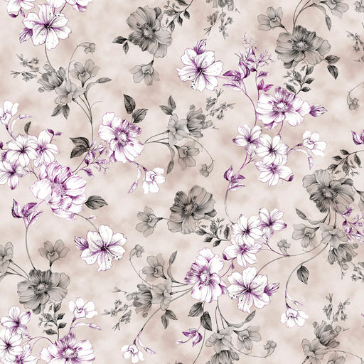 Juliette - Spaced Floral Vine 26814-K Gray