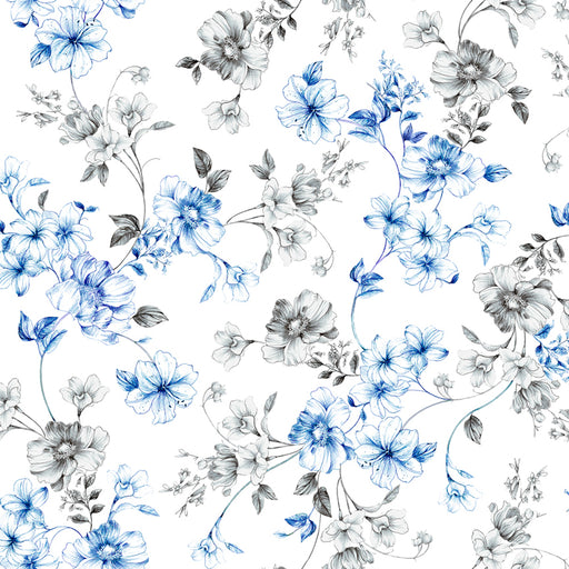 Juliette - Spaced Floral Vine 26814-Z White