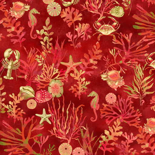 By The Sea Coral Reef 3164-88 Coral Red