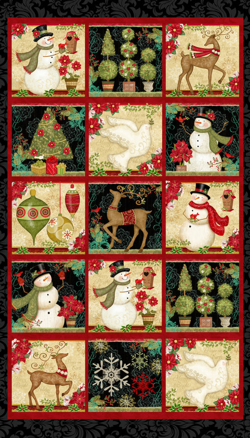 Winter Bliss - Holiday Blocks 3243P-99 Black
