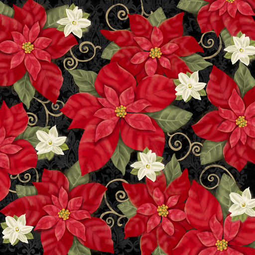 Winter Bliss - Poinsettia 3245-99 Black