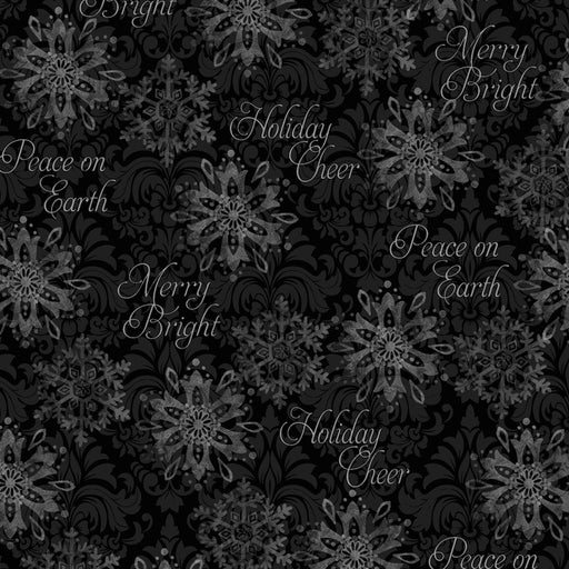 Winter Bliss - Snowflake 3248-99 Black