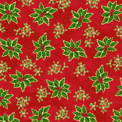 Winter Bliss - Holly Allover 3250-88 Red