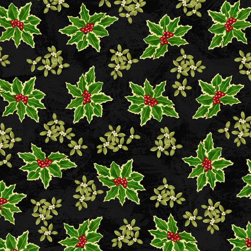 Winter Bliss - Holly Allover 3250-99 Black