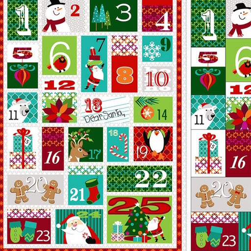 Dear Santa Advent Calendar Panel 3316P-68 Multi