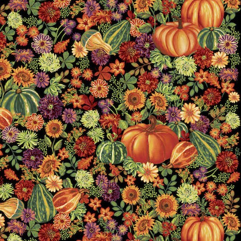 Autumn Abundance Great Pumpkin 3335-99 Black