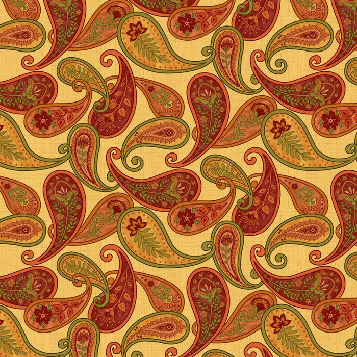 Autumn Abundance Paisley 3336-33 Yellow