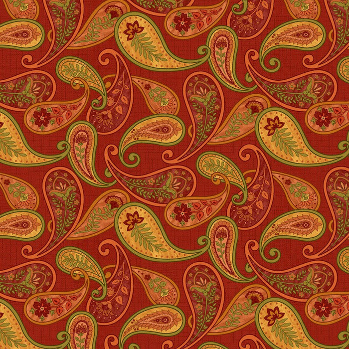 Autumn Abundance Paisley 3336-88 Red