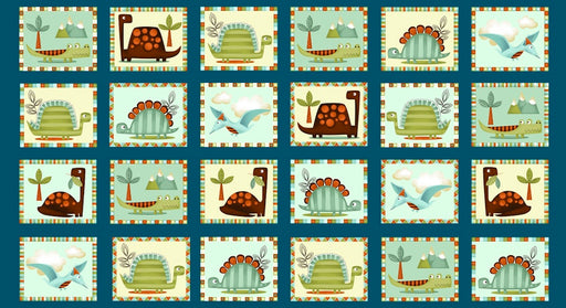 Dino-riffic Dino Blocks 3407-76 Teal Blue