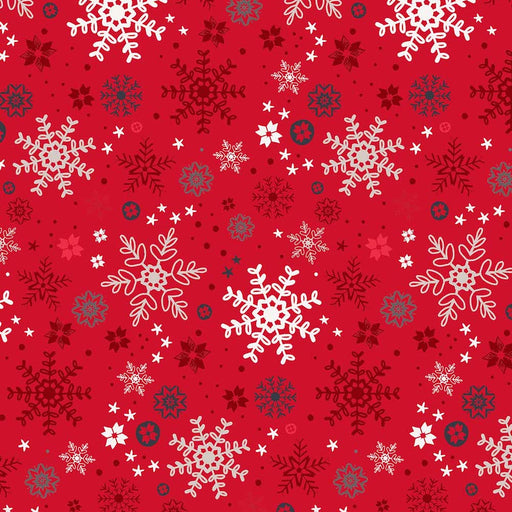 Snow Delightful - Snowflakes 3858-88 Red