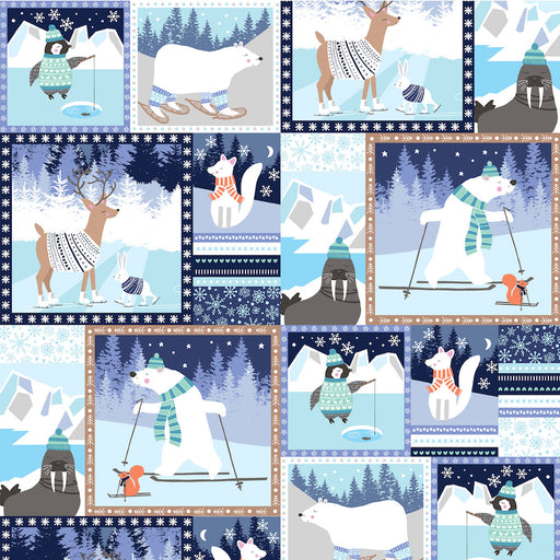 Snow Happy - Patchwork 4182-71 Blue