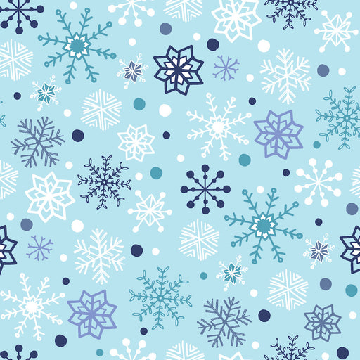 Snow Happy - Snowflakes 4188-11 Light Blue