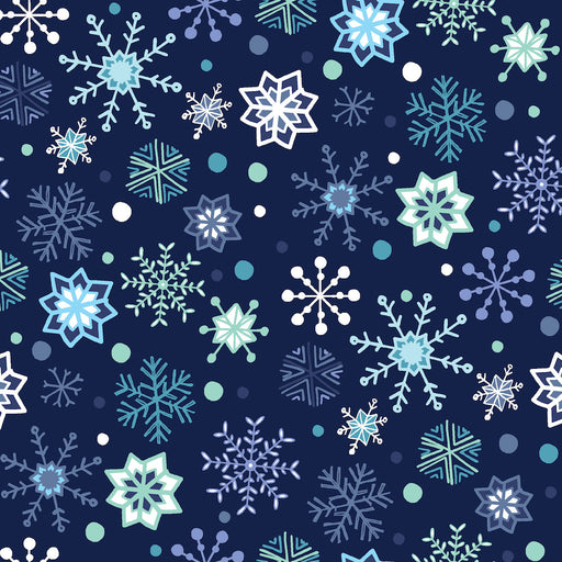 Snow Happy - Snowflakes 4188-77 Navy