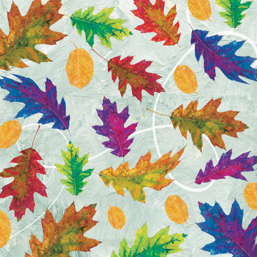 Autumn Hues Leaves 4206-11 Blue