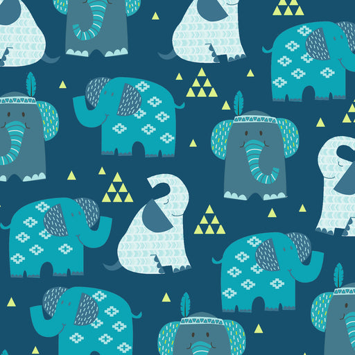 Boho Baby - Elephants 4305-77 Dark Blue