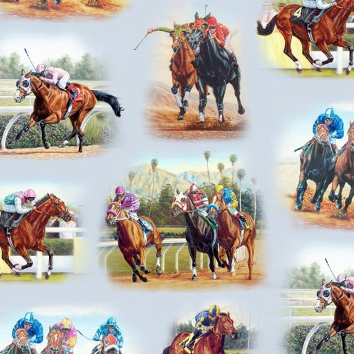 Horse Breeds Horse Racing 7700-Blue