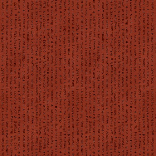 A Vintage Autumn Words 8100-80 Rust