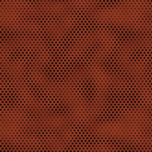 A Vintage Autumn Tonal Checkerboard 8103-80 Rust