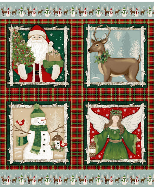 "A Christmas To Remember 36"" Panel 8154P-88 Red"