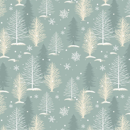 A Christmas To Remember Tree Allover 8159-11 Light Blue
