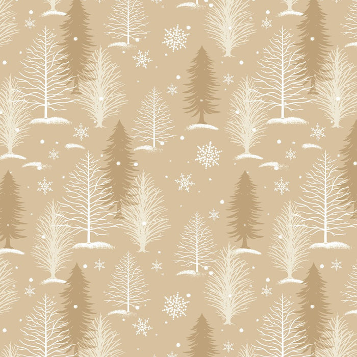 A Christmas To Remember Tree Allover 8159-44 Tan