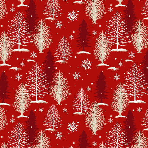 A Christmas To Remember Tree Allover 8159-88 Red