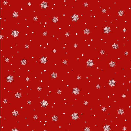 A Christmas To Remember Snowflake 8161-88 Red