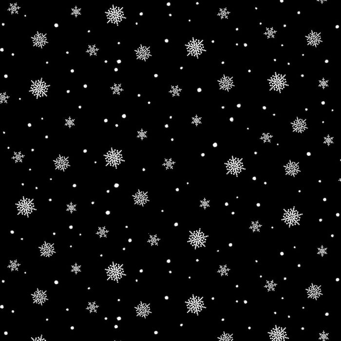 A Christmas To Remember Snowflake 8161-99 Black