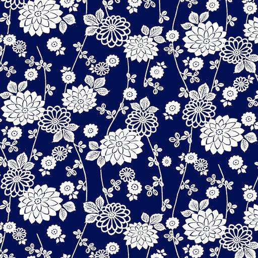 Avalon Floral 8204-77 Navy