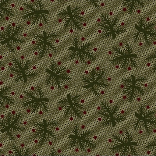 Pieceful Pines - Berry Bough 8207-114 Green