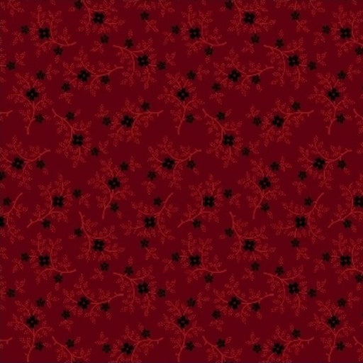 Pieceful Pines - Berry Sprig 8208-111 Burgundy