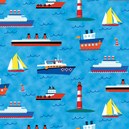 Travel Around the World Ships, Boats, Lighthouses 8231-72 Blue