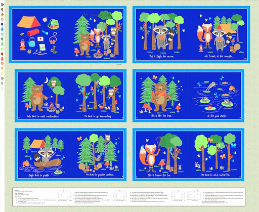 "Camping Club 36"" Book Panel 8370P-77 Blue"