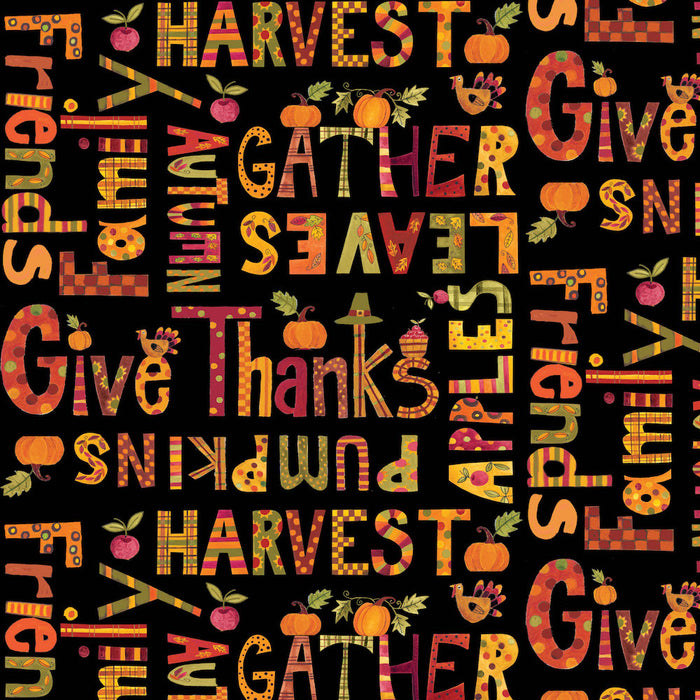 Give Thanks - Words 8568-99 Black
