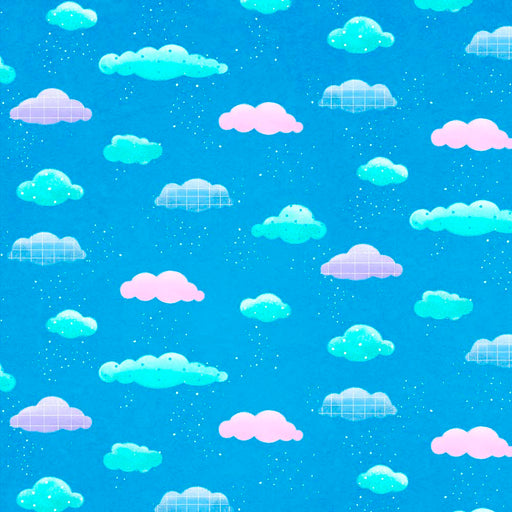 Rhyme Time Clouds 8690-75 Blue
