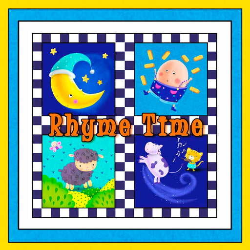 Rhyme Time Book Panel 8693P-75 Blue