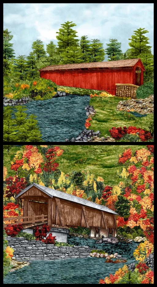 "Covered Bridges Panel 24""8995P-66 Green"